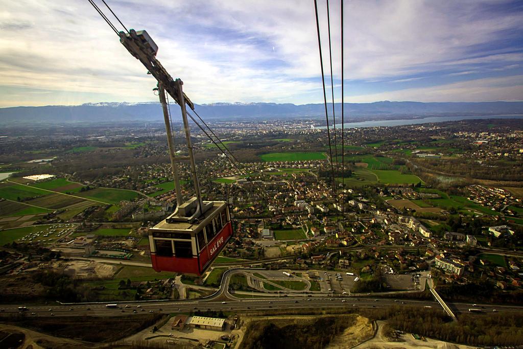 Le téléphérique du Balcon de Genève