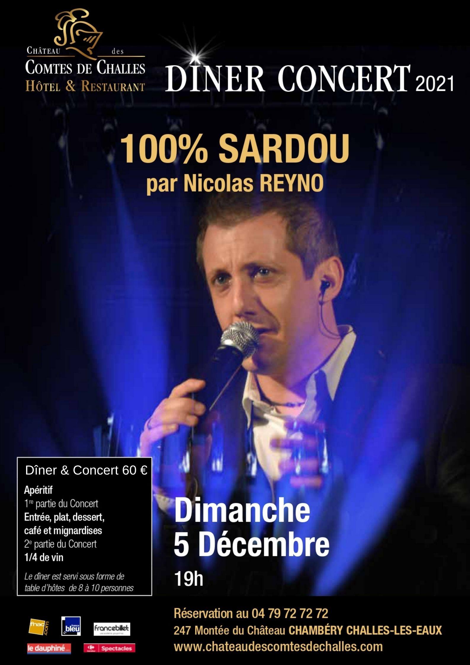 DINER CONCERT - 100% SARDOU par Nicolas REYNO