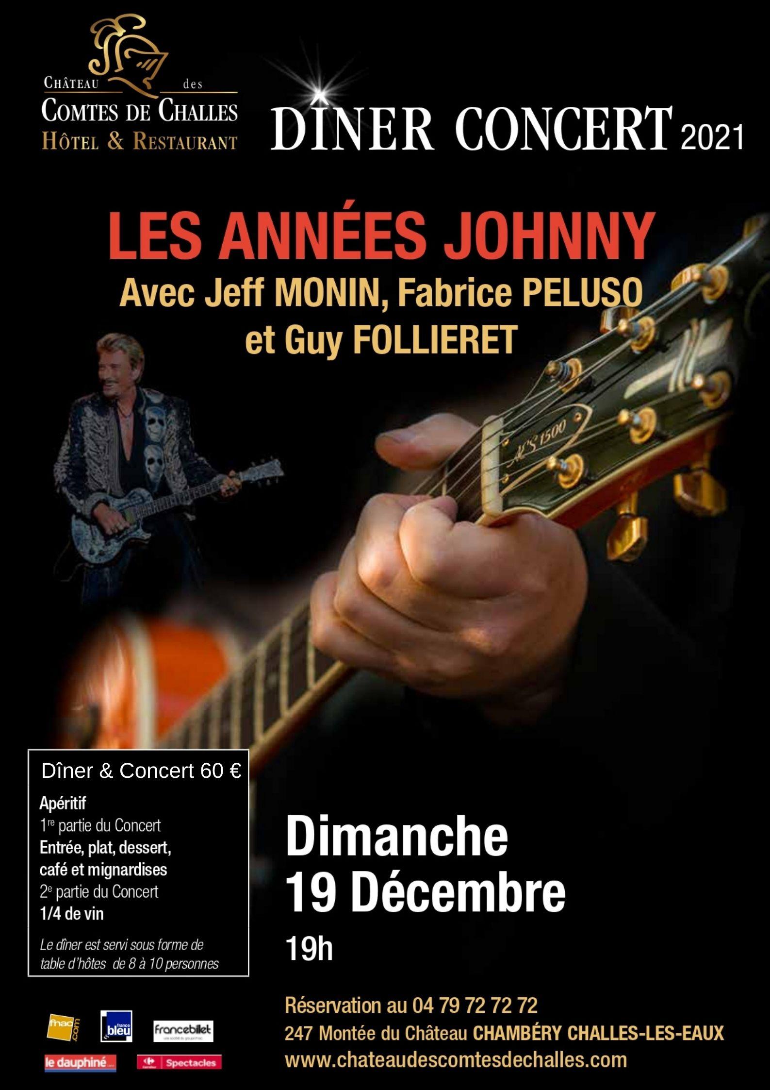 """DINER CONCERT - """"Johnny HALLYDAY"""" par Jeff MONIN & Friends"""