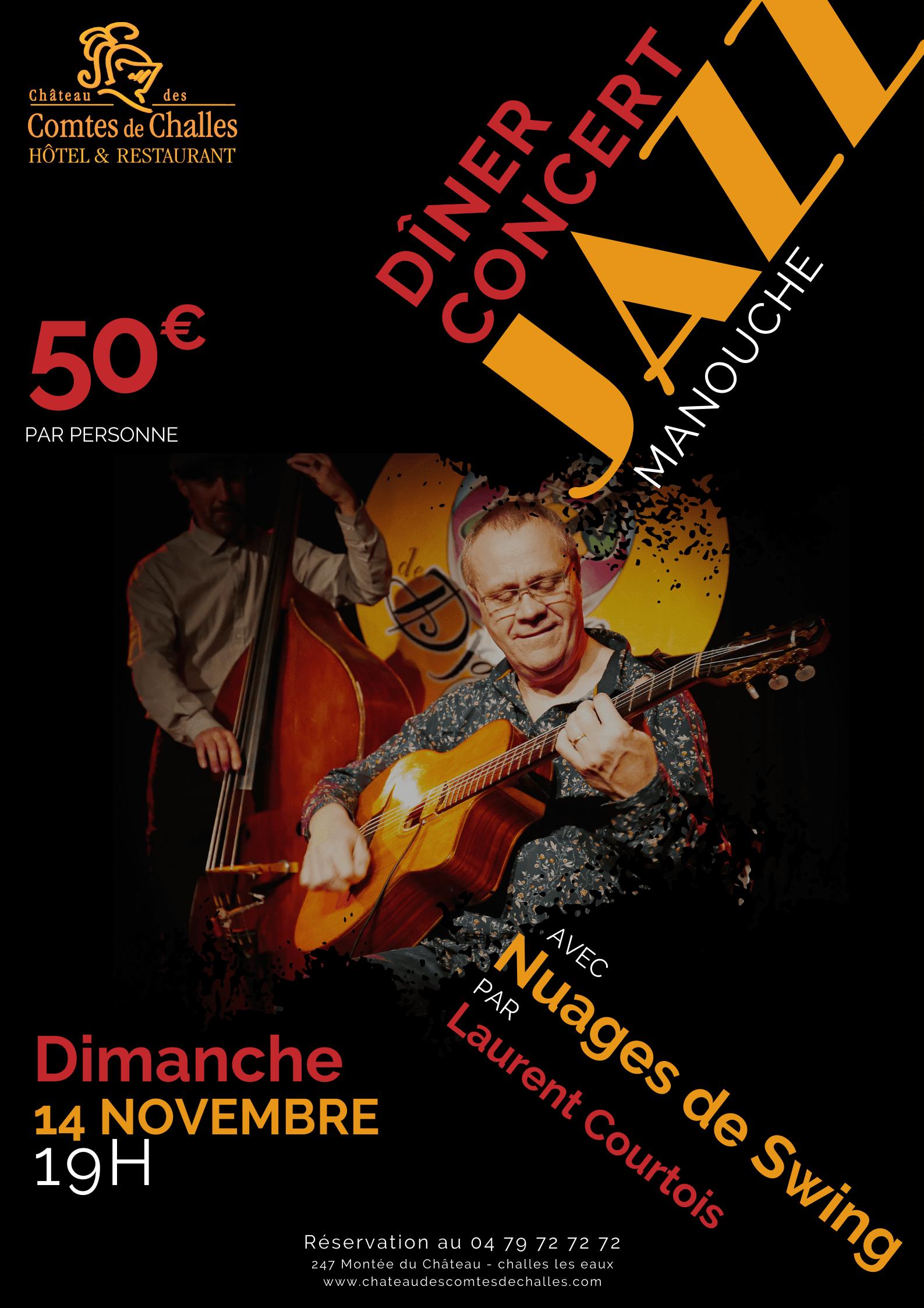 DINER CONCERT - NUAGES DE SWING par Laurent COURTOIS