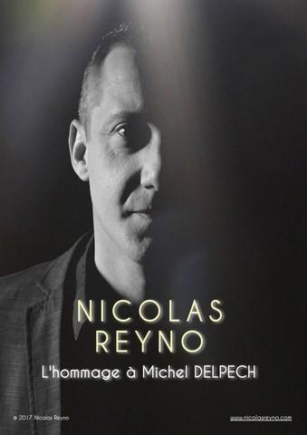 """DINER CONCERT """"HOMMAGE A MICHEL DELPECH"""" par Nicolas REYNO"""