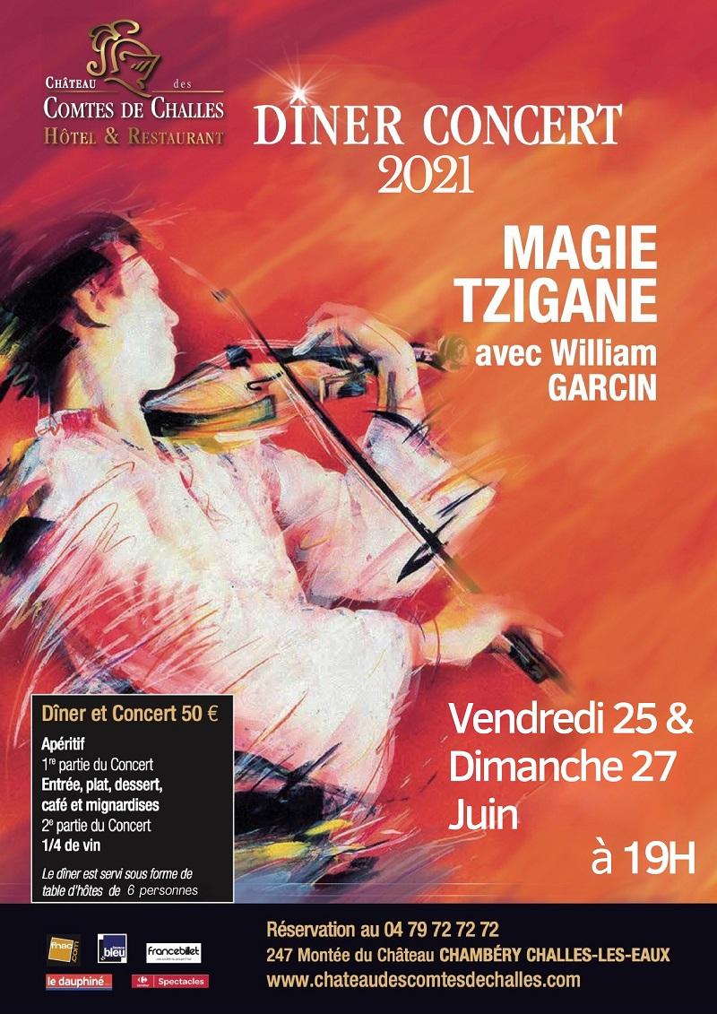 DINER CONCERT - MAGIE TZIGANE avec William GARCIN