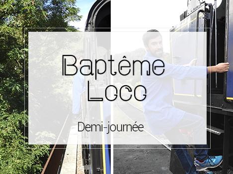 BAPTEME LOCOMOTIVE       1/2 JOURNEE