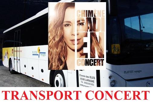 **TRANSPORT pour le concert de Chimène BADI Digne les Bains