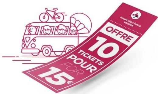 Carnet de 10 tickets Haute Maurienne Vanoise