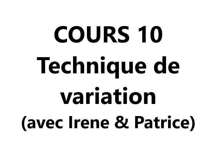 Cours 10 Atelier variation VAL-CENIS Lanslevillard