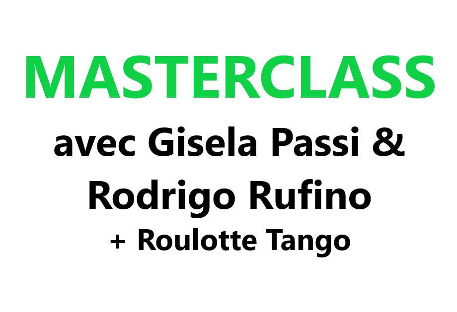 Masterclass Gisela Passi & Rodrigo Rufino + Roulotte Tango VAL-CENIS