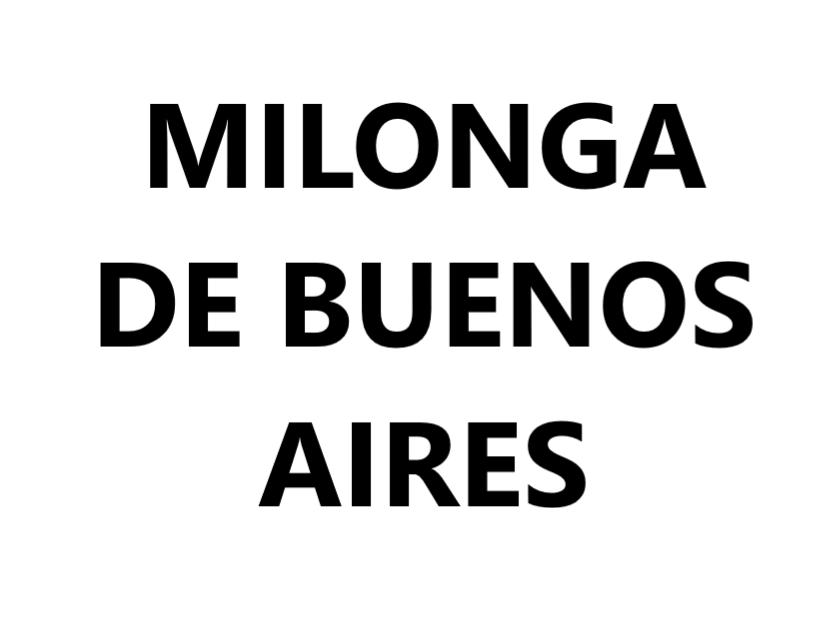 Milonga de Buenos Aires VAL-CENIS Lanslevillard