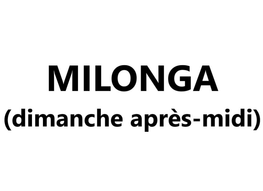 Milonga (dimanche après-midi) VAL-CENIS