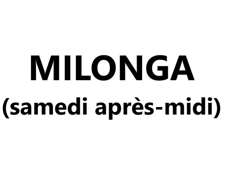 Milonga (samedi après-midi) VAL-CENIS