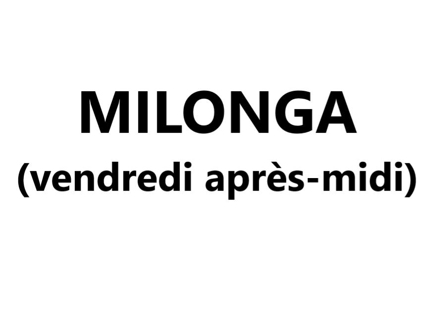 Milonga (vendredi après-midi) Val-Cenis Lanslevillard
