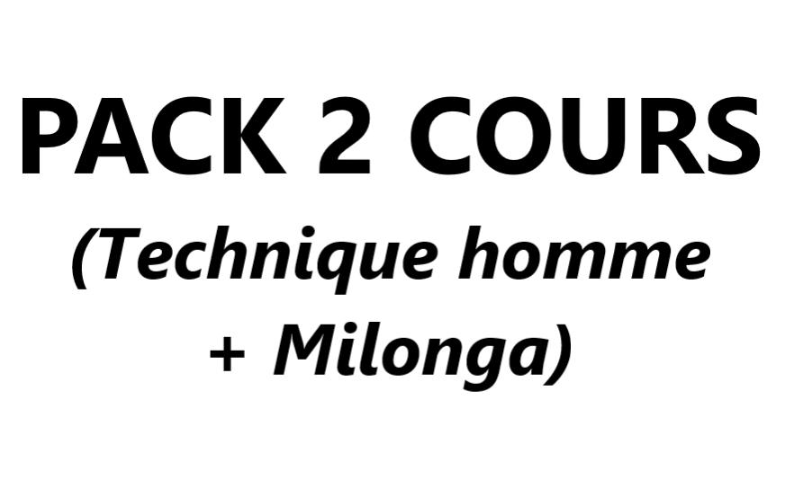 Pack 2 cours (Cours 4 Technique homme + Cours 7 Milonga) VAL-CENIS Lanslevillard