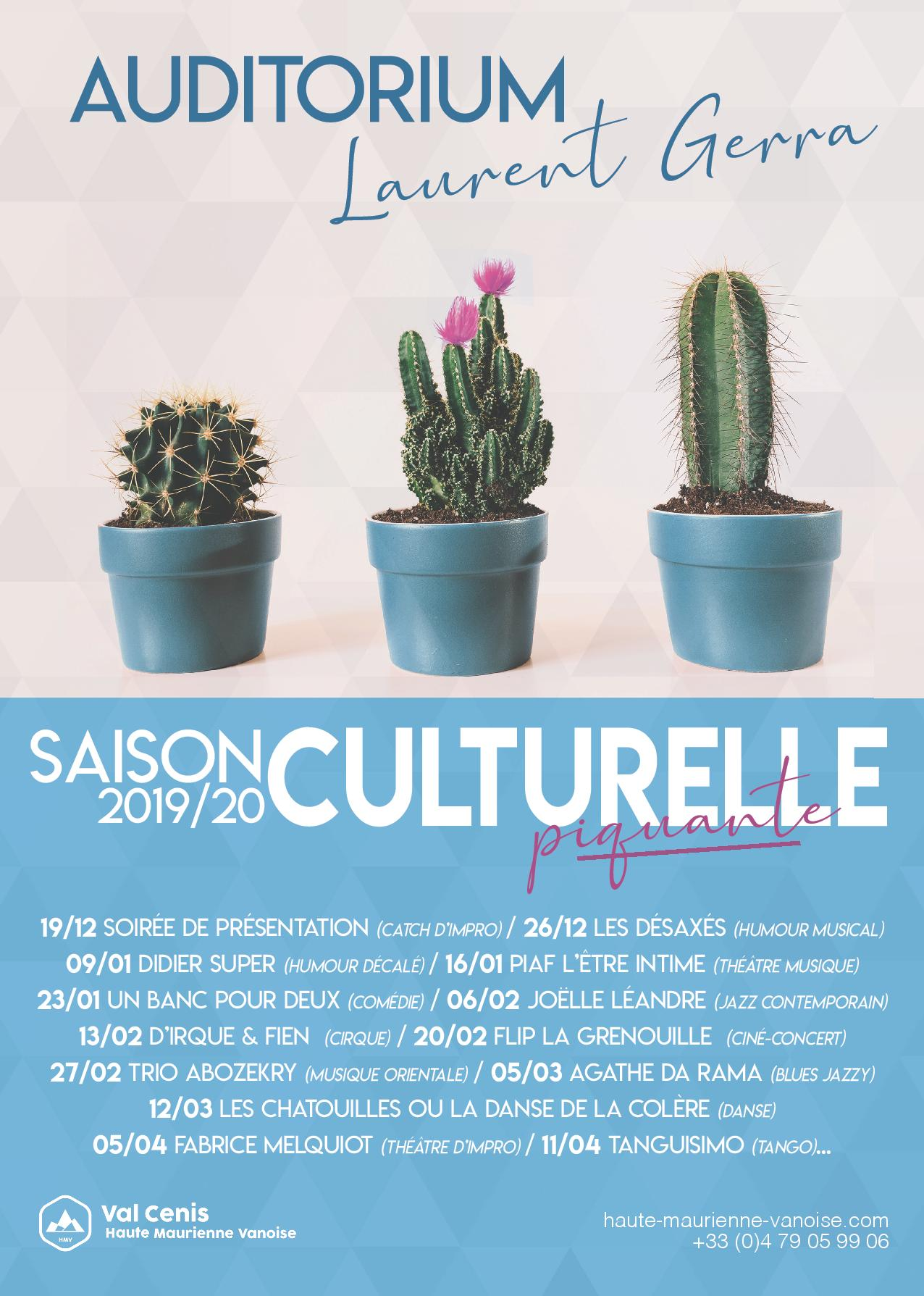 ABONNEMENT AUDITORIUM SAISON HIVERNALE 2019-2020 Val Cenis Lanslebourg