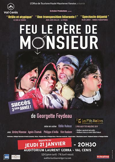 """Comédie """"Feu le Père de Monsieur"""" Val Cenis Lanslebourg"""