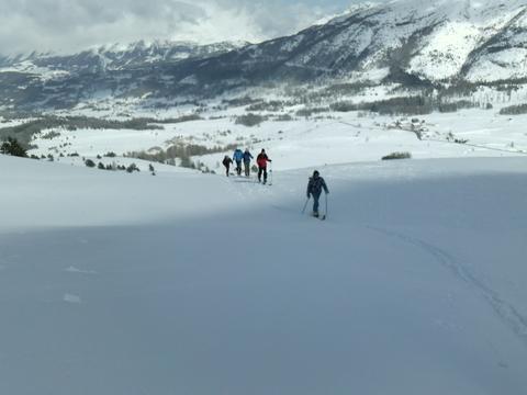 Le Chauvet en ski de rando Le Dévoluy