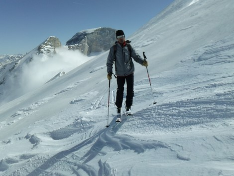 Le col du Charnier en ski de randonnée La joue du Loup