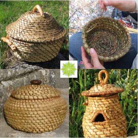 5 jours de stage vannerie sauvage la ruche en paille Barret sur Méouge