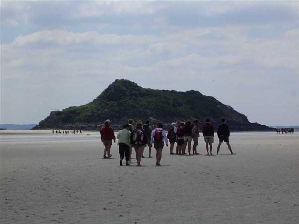 """Traversée commentée """"Découverte de l'îlot de Tombelaine"""" départ du Mont Saint Michel"""