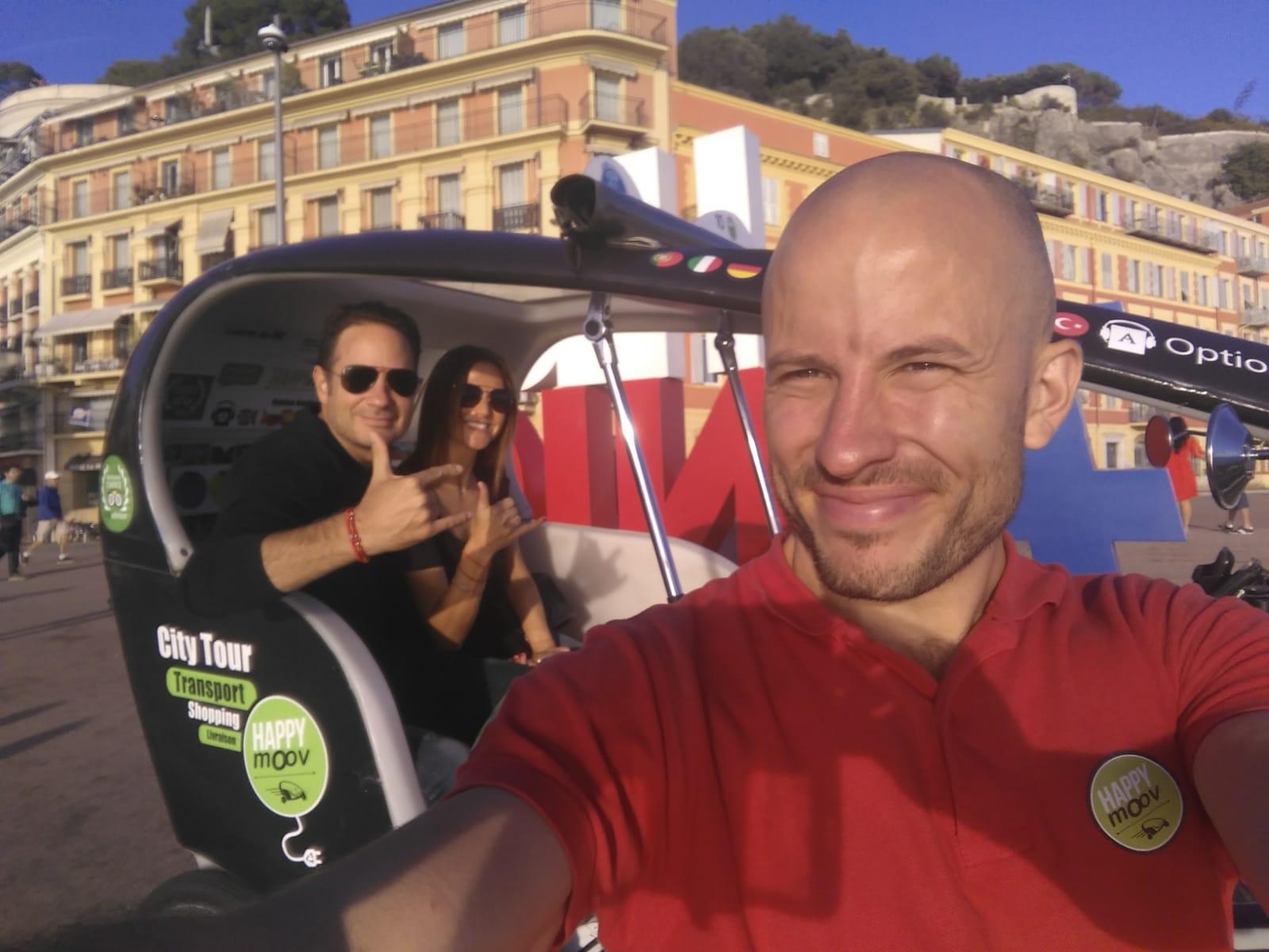 Tour privé de Nice en vélotaxi électrique - multilingue - 1h45