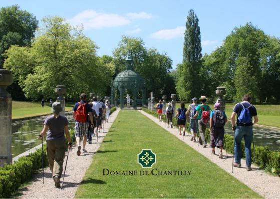 Marche nordique dans le parc du château de Chantilly
