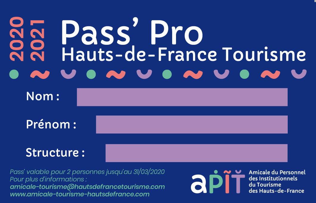 Pass Pro Hauts-de-France Tourisme 2020