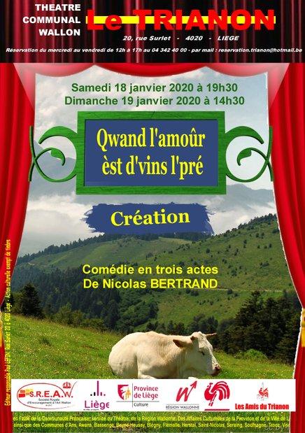 """Théatre le Trianon """" Qwand l'amour est d'vins l'pré """""""