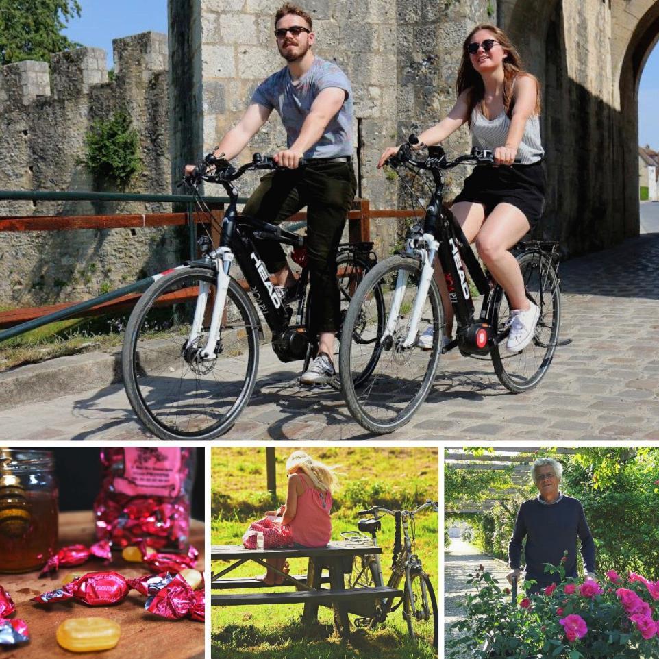 Escapade à vélo et douceur à la rose
