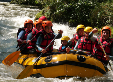 Rafting famille